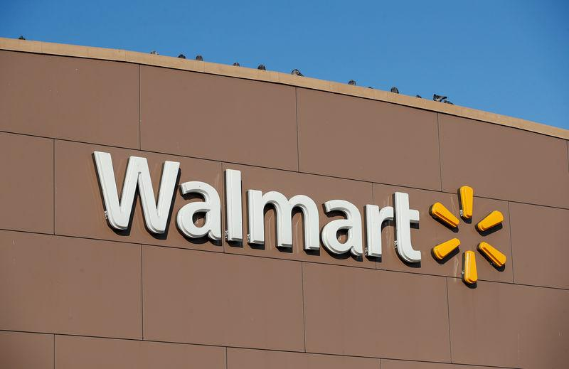 Walmart's logo is seen outside one of the stores in Chicago