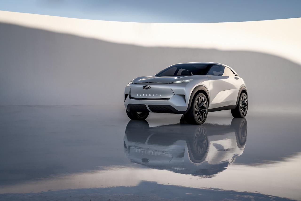 A lovely and serene entry into a category of vehicles—the crossover—not generally known for these descriptors, this concept offers a unique blend of sharp and flowing lines, presaging Infiniti's new design language.