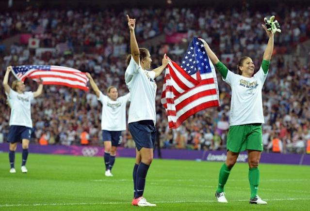 Organisers' hopes of breaking the record attendance for a women's football match in the United Kingdom fell just short of the 2012 Olympic final between the US and Japan (AFP Photo/LUIS ACOSTA)