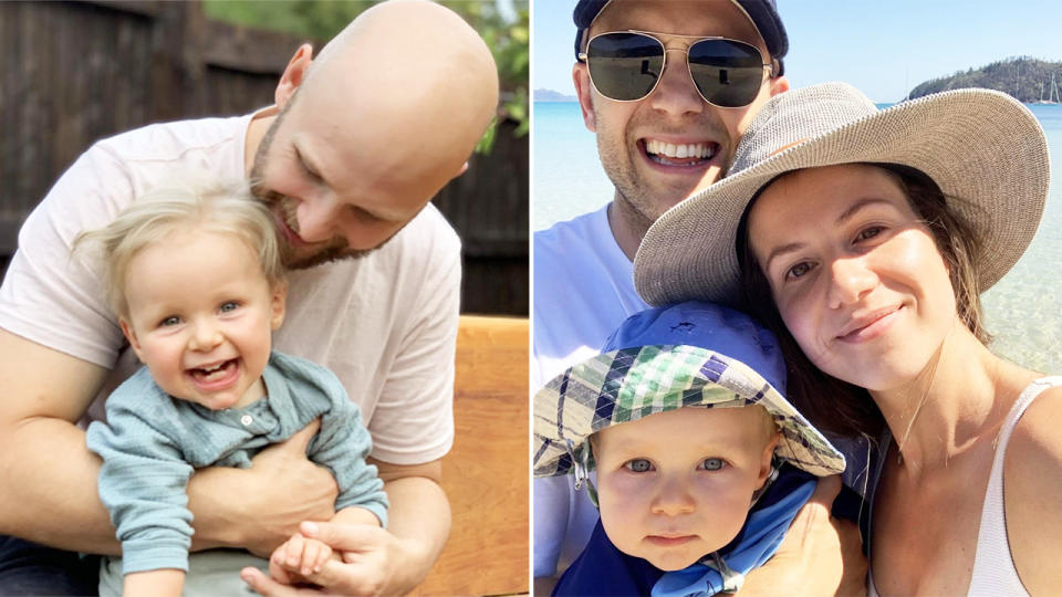 Gary and Jordan Ablett, pictured here with son Levi.