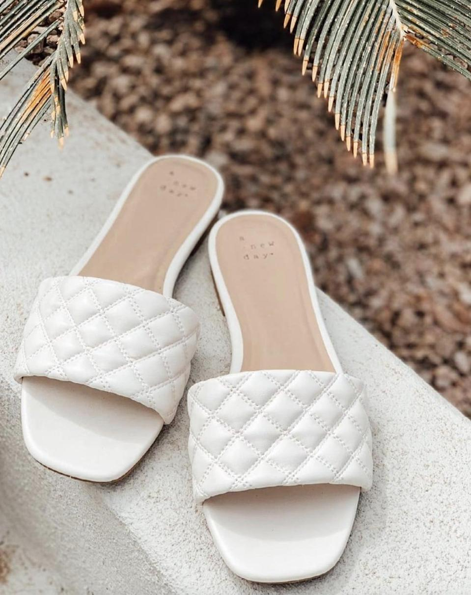 <p>These <span>A New Day Quilted Slide Sandals</span> ($20) are a refreshing pick for spring.</p>