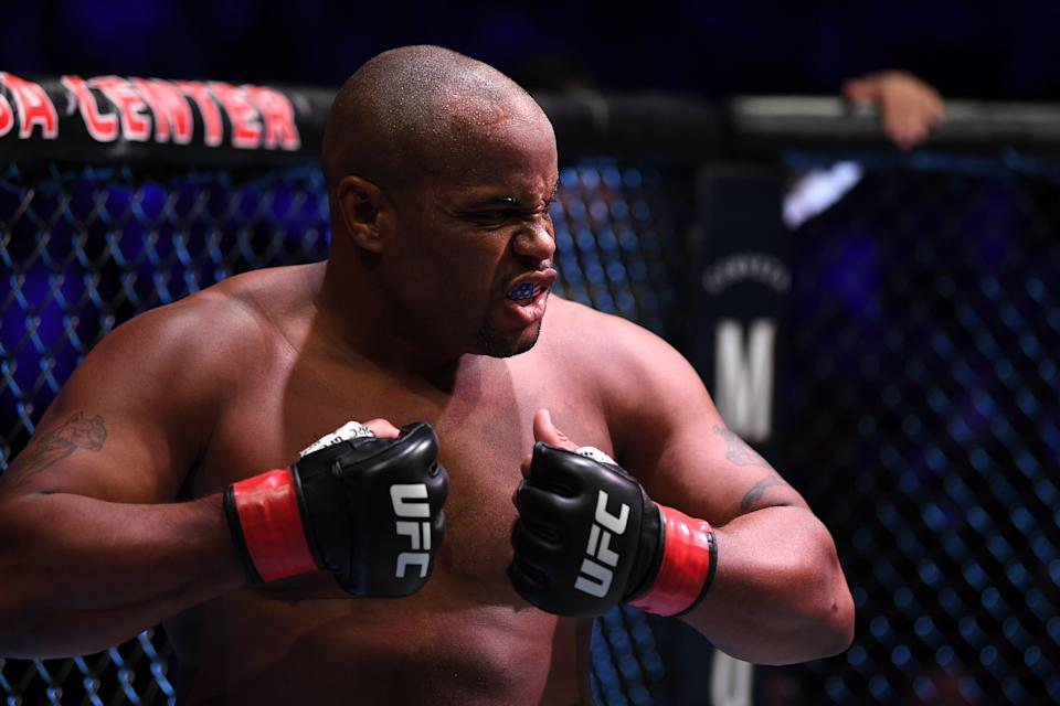 ANAHEIM, CALIFORNIA - AUGUST 17:  Daniel Cormier stands in his corner prior to his heavyweight championship bout against Stipe Miocic during the UFC 241 event at the Honda Center on August 17, 2019 in Anaheim, California. (Photo by Josh Hedges/Zuffa LLC/Zuffa LLC via Getty Images)