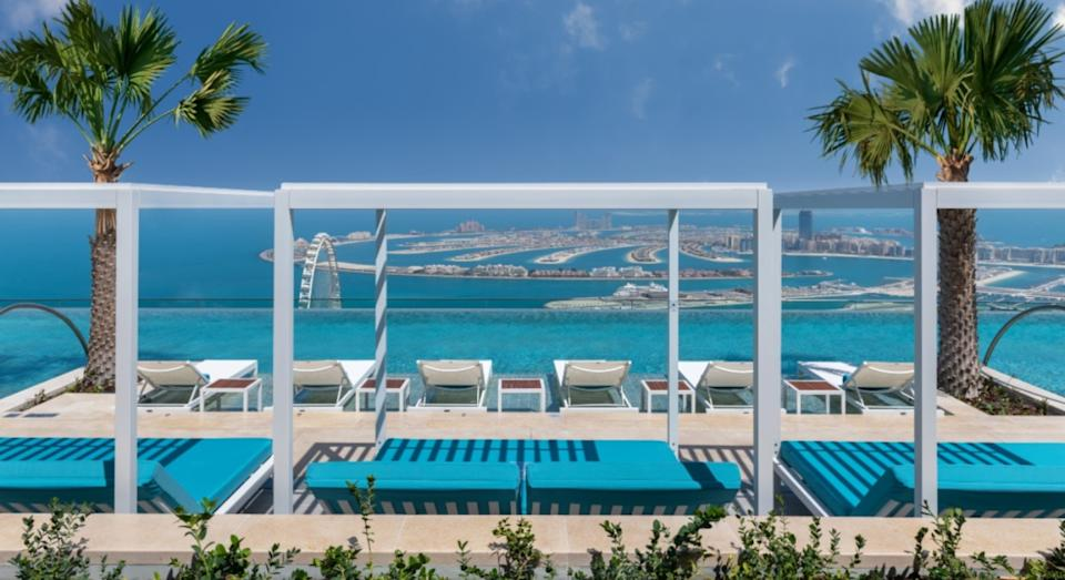 The pool sits nearly 300 metres above ground (Address Beach Resort)