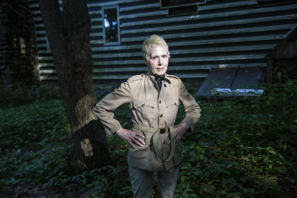 WARWICK, NEW YORK - JUNE 21, 2019: E. Jean Carroll at her home in Warwick, NY. Carroll claims that Donald Trump sexually assaulted her in a dressing room at a Manhattan department store in the mid-1990s. Trump denies knowing Carroll.(Photo by Eva Deitch for The Washington Post via Getty Images)