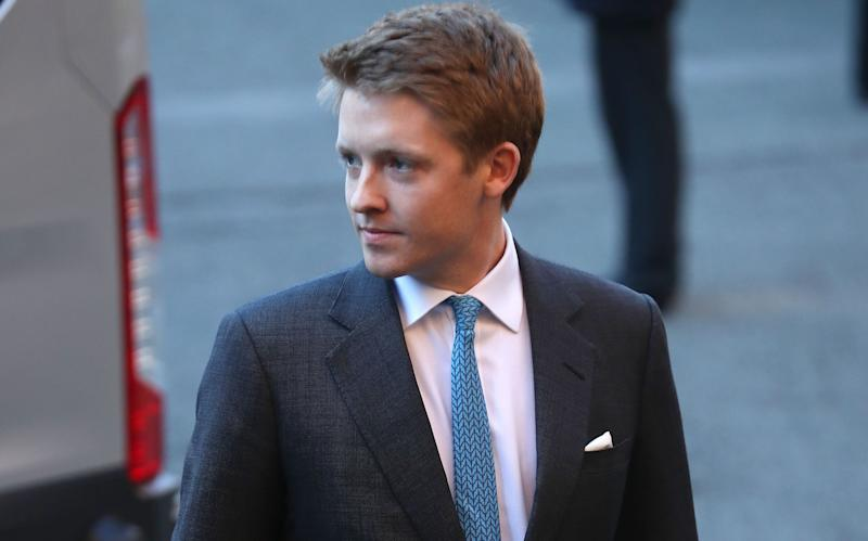 The 7th Duke of Westminster, Hugh Grosvenor, arriving for a memorial service to celebrate the life of his father - Credit: Peter Byrne/PA Wire