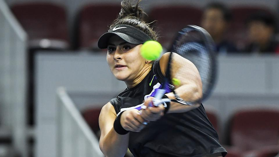 Canada's Bianca Andreescu is pictured during the 2019 Shanghai Open.