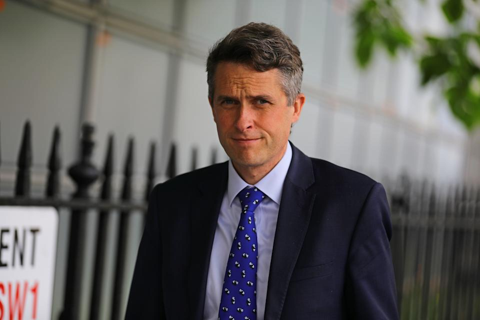 Secretary of State for Education Gavin Williamson in Parliament Square in Westminster, London.