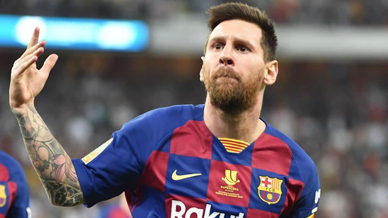 Football Lionel Messi Hands In Barcelona Transfer Request