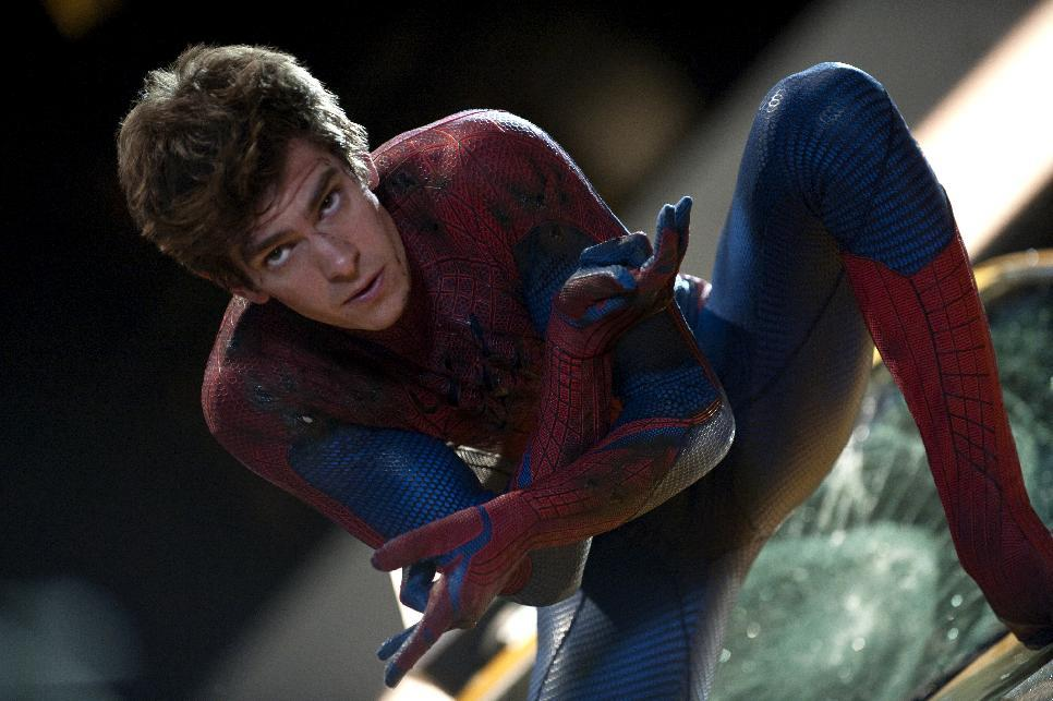 "In this film image released by Sony Pictures, Andrew Garfield is shown in a scene from ""The Amazing Spider-Man, set for release on July 3, 2012. ""The Amazing Spider-Man"" pulled in $7.5 million from its debut screenings just after midnight Tuesday, July 3. (AP Photo/Columbia - Sony Pictures, Jaimie Trueblood)"