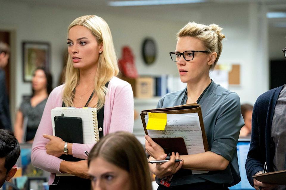 <p>Robbie's character, Kayla Pospisil, and McKinnon's character, Jess Carr, are both fictional. </p>