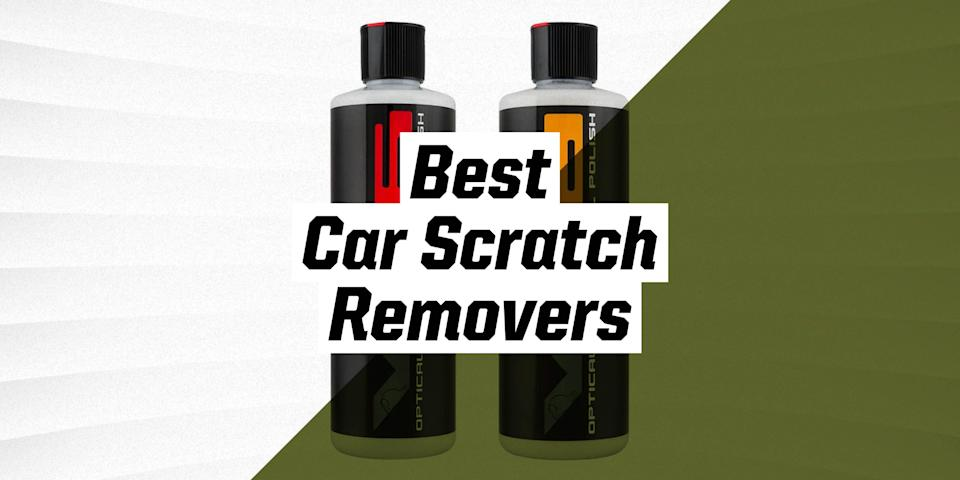"""<p>Paint scratches are a practically inevitable part of vehicle ownership, even on relatively low-mileage cars. Roads are hardly sterile environments, and driving on them will find you picking up gravel, wood splinters, microscopic dust, and all manner of nasty stuff. These contaminants drag across body panels and damage the paint's top clear coat, most often manifesting in the form of ugly swirls that show up in harsh light.</p><p>Luckily, there are a lot of products out there formulated to repair this clear coat damage, reverting it back to its silky-smooth shiny form. Liquid polishes use a slight abrasive quality to smooth out imperfections in paint. They can applied by hand using foam and microfiber pads, or an <a href=""""https://www.popularmechanics.com/cars/g36974270/best-car-buffers/"""" rel=""""nofollow noopener"""" target=""""_blank"""" data-ylk=""""slk:electric car buffer"""" class=""""link rapid-noclick-resp"""">electric car buffer</a> can be used to further enhance their effect. Doing it manually will require a lot of effort, so when correcting paint, we would recommend using a buffer. </p><h3 class=""""body-h3"""">What to Look for</h3><p>The first thing to be aware of is while polishes and scratch removers are incredibly useful to the auto detailing process, they are not a cure-all. Detailing products are great for all the tiny blemishes over regular use, but things like deep key scratches or prolonged UV damage will require more excessive paint repair than over-the-counter polishes can provide. Be sure to consult professional detailing resources for what's best on your car. It's also crucial to fully wash and dry the car before applying scratch removal products.</p><p>It's strongly recommended that you also do a """"test area"""" before you apply the product to the rest of the car. This test area can offer you a lot of information like what the proper RPM and OPM (and pad) are in order to remove the scratches without damaging the surrounding paint. </p><p>When it comes to specific polishes, s"""