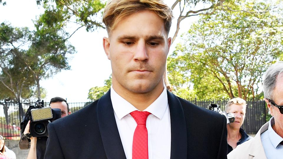 Jack de Belin, pictured here arriving at Wollongong District Court.
