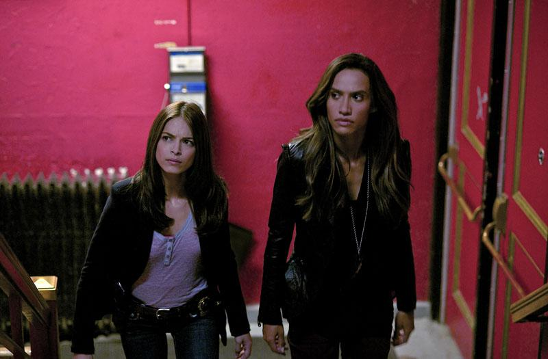 """Kristin Kreuk as Catherine and Nina Lisandrello as Tess in the """"Beauty and the Beast"""" episode, """"Proceed With Caution."""""""