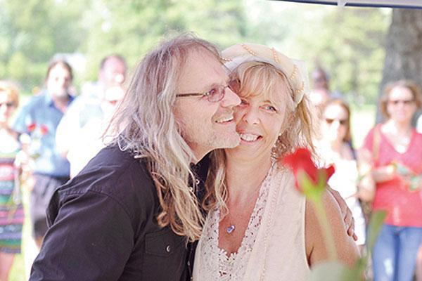 "<div class=""caption-credit""> Photo by: Austin Daily Herald</div><div class=""caption-title"">4. In a Cemetery</div>One issue so many couples struggle with is <a href=""http://www.bridalguide.com/etiquette/family-friends-guests/ways-to-honor-lost-loved-ones"" rel=""nofollow noopener"" target=""_blank"" data-ylk=""slk:how to honor a deceased relative"" class=""link rapid-noclick-resp""><b>how to honor a deceased relative</b></a> at the wedding. Diane Waller and Randy Kjarland, whose parents are buried in the same cemetery, decided to honor their mothers by holding the wedding at their headstones."