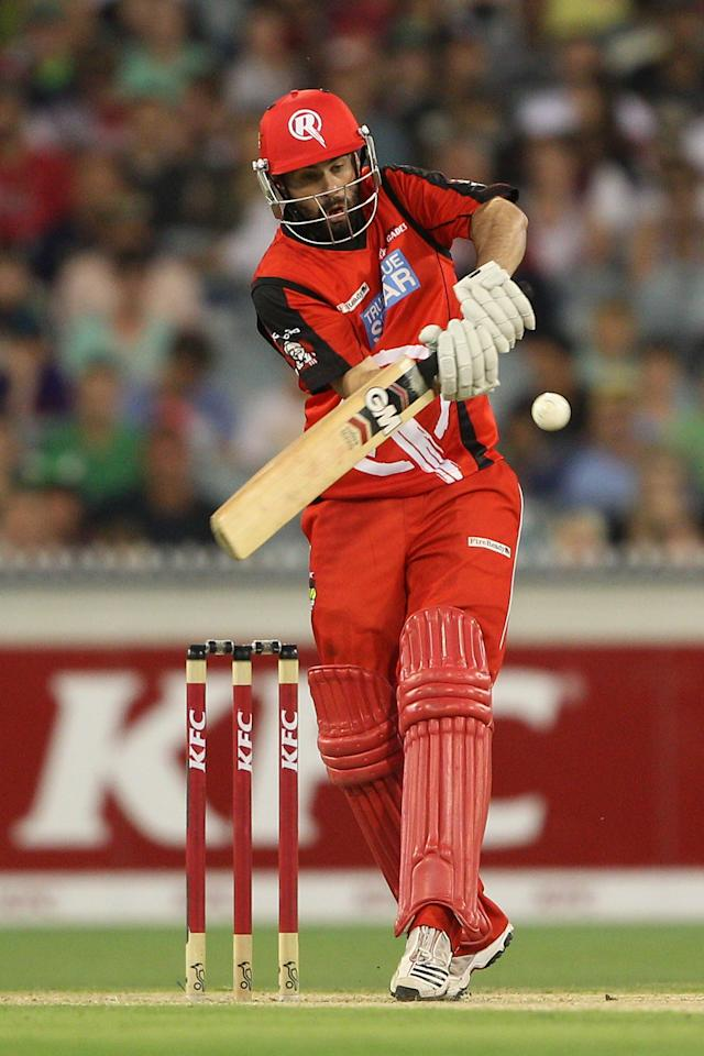 MELBOURNE, AUSTRALIA - JANUARY 06:  Alex Doolan of the Renegades plays a shot during the Big Bash League match between the Melbourne Stars and the Melbourne Renegades at Melbourne Cricket Ground on January 6, 2013 in Melbourne, Australia.  (Photo by Robert Prezioso/Getty Images)
