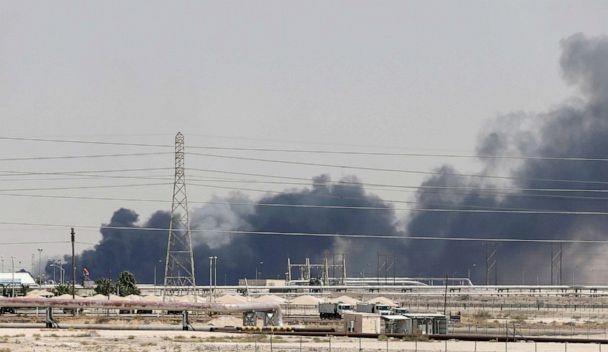 PHOTO: Smoke is seen following a fire at Aramco facility in the eastern city of Abqaiq, Saudi Arabia, Sept. 14, 2019. (Hamad I Mohammed/Reuters)