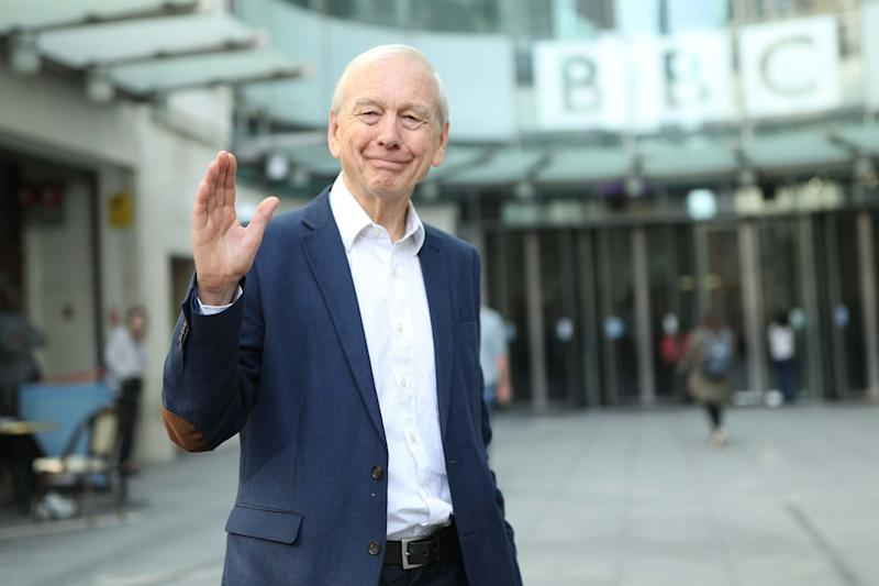 John Humphrys leaves New Broadcasting House after presenting his final show on the Today programme: PA