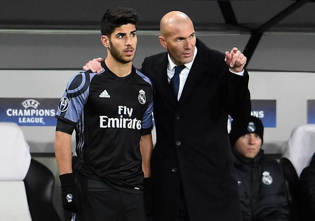 Galacticos of the past, like Zinedine Zidane (right), have given way to young stars like Marco Asensio at Real Madrid. (Getty)
