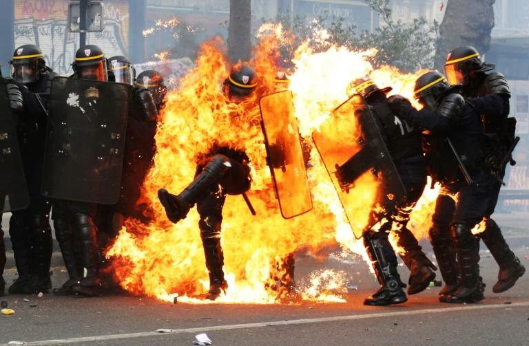 Paris demos erupted into violence
