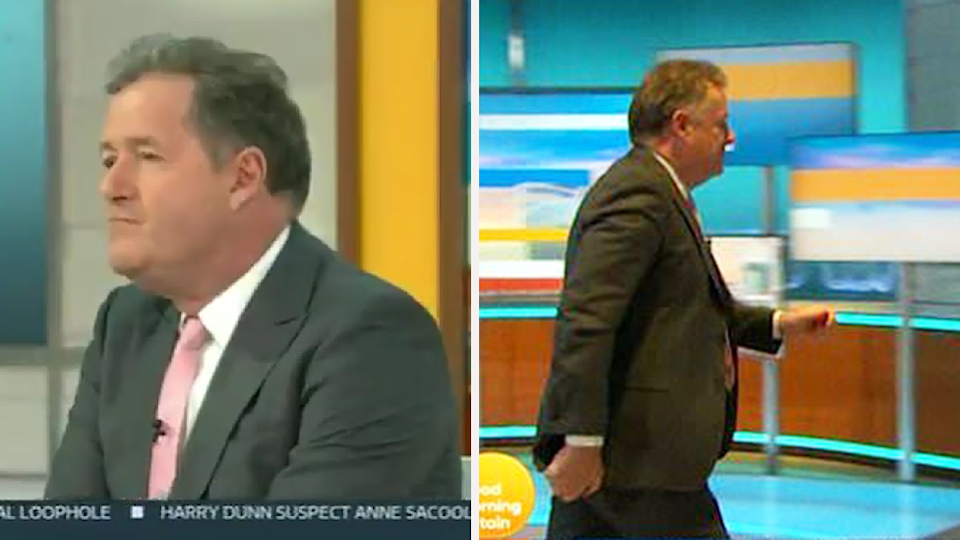Piers Morgan storms off Good Morning Britain