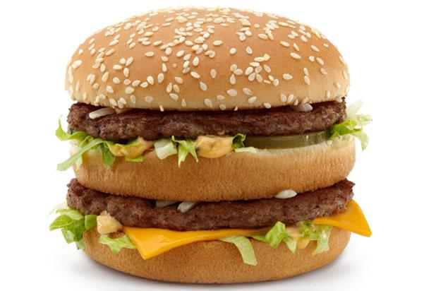 """<div class=""""caption-credit""""> Photo by: Credit: McDonald's</div><div class=""""caption-title""""></div><br> 6) McDonald's <br> <b>Double Quarter Pounder with Cheese</b> <br> Fat: 43 grams <br> Calories: 750 <br> Sodium: 1,280 milligrams <br> <br> <b>Big Mac (left)</b> <br> Fat: 29 grams <br> Calories: 550 <br> Sodium: 970 milligrams <br> <br> <b>Sausage, Egg, and Cheese McGriddle</b> <br> Fat: 31 grams <br> Calories: 550 <br> Sodium: 1,320 milligrams <br> <br> <b>Big Breakfast with Hotcakes</b> <br> Fat: 56 grams <br> Calories: 1,090 <br> Sodium: 2,150 milligrams <br>"""