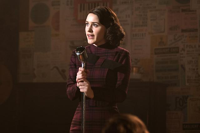 Rachel Brosnahan in <em>The Marvelous Mrs. Maisel.</em> (Photo: Amazon)