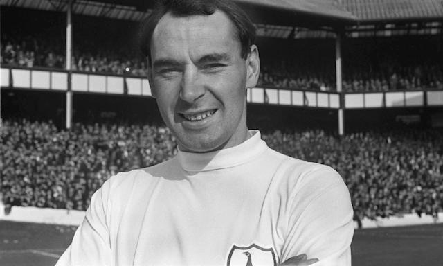 Alan Gilzean appearing for Spurs against Everton in 1965.