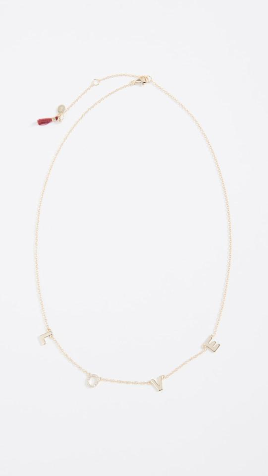 """<p>Show someone you care with this <a href=""""https://www.popsugar.com/buy/Shashi-Love-Necklace-532937?p_name=Shashi%20Love%20Necklace&retailer=shopbop.com&pid=532937&price=65&evar1=fab%3Aus&evar9=36291197&evar98=https%3A%2F%2Fwww.popsugar.com%2Ffashion%2Fphoto-gallery%2F36291197%2Fimage%2F47027883%2FShashi-Love-Necklace&list1=shopping%2Choliday%2Cwinter%2Cgift%20guide%2Cwinter%20fashion%2Choliday%20fashion%2Cfashion%20gifts&prop13=api&pdata=1"""" rel=""""nofollow"""" data-shoppable-link=""""1"""" target=""""_blank"""" class=""""ga-track"""" data-ga-category=""""Related"""" data-ga-label=""""https://www.shopbop.com/love-necklace-shashi/vp/v=1/1578424823.htm?folderID=58607&amp;fm=other-shopbysize-viewall&amp;os=false&amp;colorId=15065&amp;ref=SB_PLP_NB_41"""" data-ga-action=""""In-Line Links"""">Shashi Love Necklace</a> ($65).</p>"""
