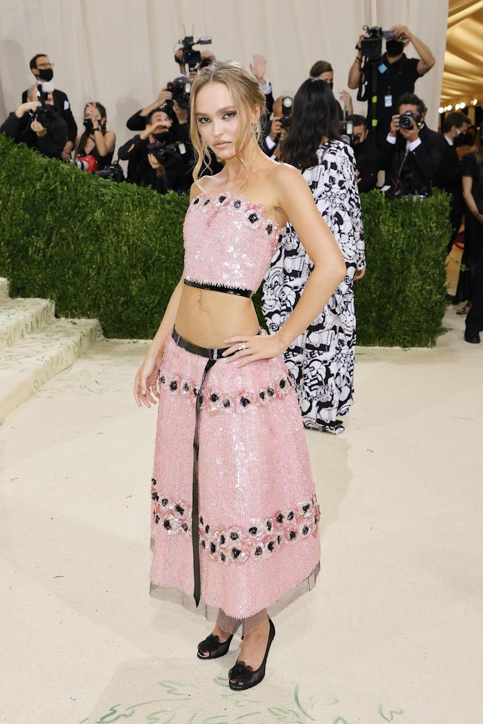 """<h1 class=""""title"""">Lily-Rose Depp, The 2021 Met Gala Celebrating In America: A Lexicon Of Fashion - Arrivals</h1><cite class=""""credit"""">Getty</cite>"""
