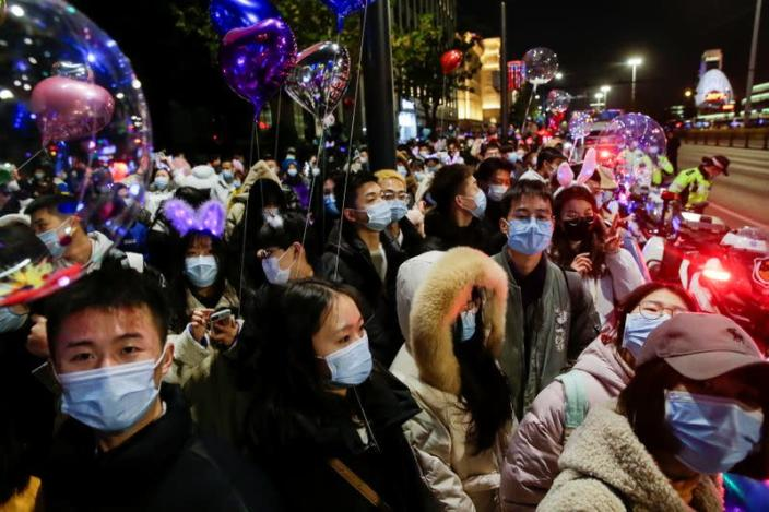 New Year's Eve celebrations in Wuhan