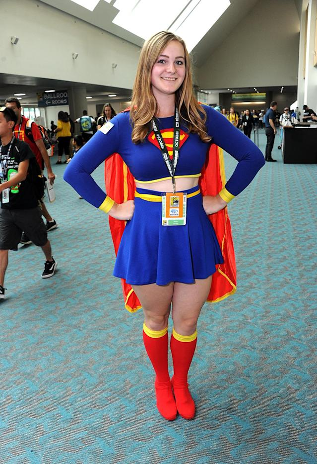 <p>Cosplayer dressed as Supergirl at Comic-Con International on July 20 in San Diego. (Photo: Albert L. Ortega/Getty Images) </p>