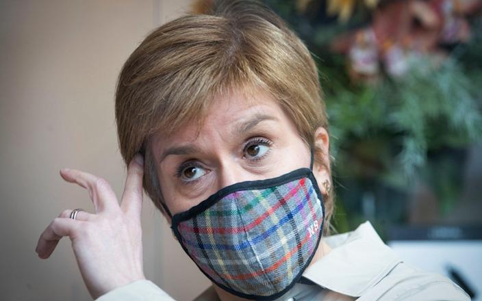 Ms Sturgeon has appeared uncomfortable over recent days as the debate has shifted from the timing of a new referendum to practical issues of independence - Andy Buchanan/Pool/Getty Images