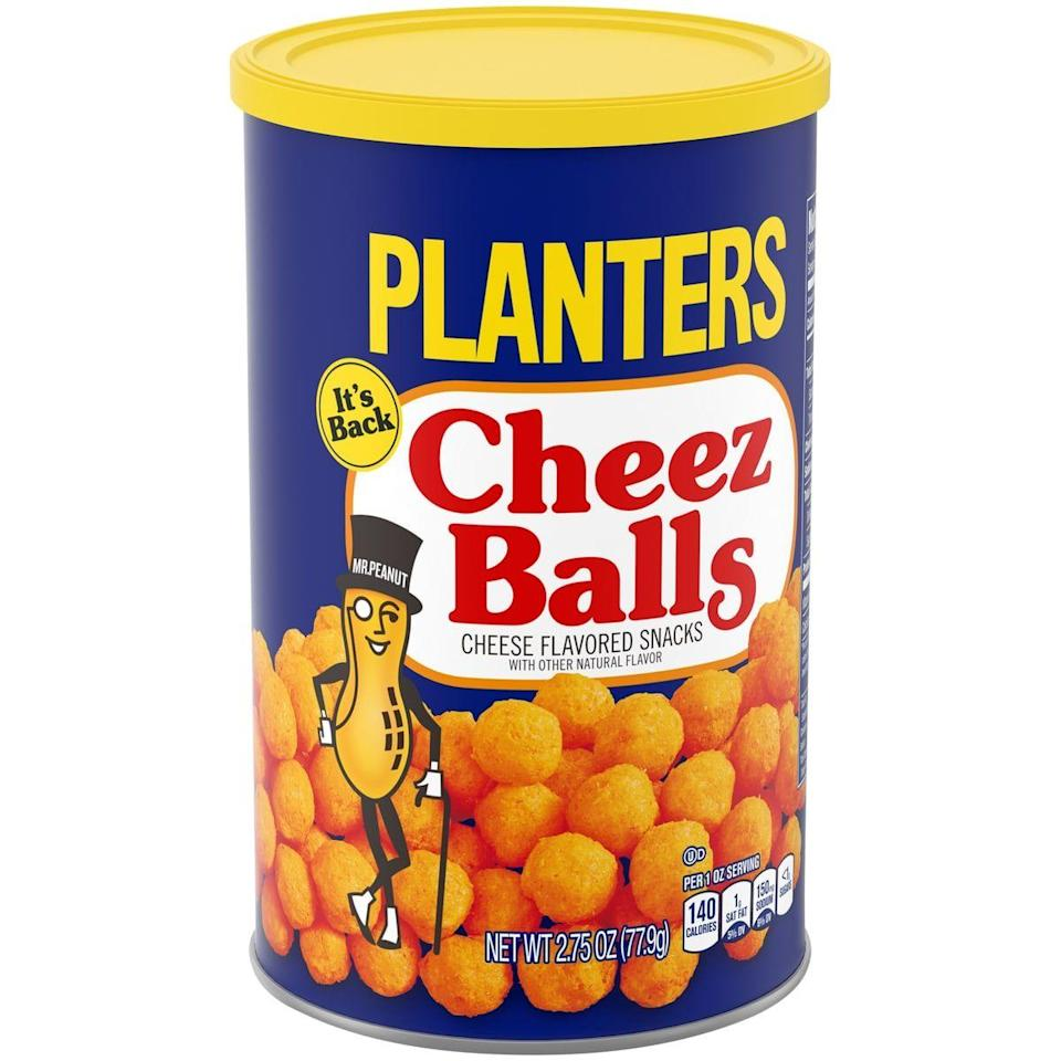 """<p>Though <a href=""""https://www.delish.com/food-news/a21988481/planters-cheez-balls-return/"""" rel=""""nofollow noopener"""" target=""""_blank"""" data-ylk=""""slk:Planters brought Cheez Balls back earlier this year"""" class=""""link rapid-noclick-resp"""">Planters brought Cheez Balls back earlier this year</a>, they sold out so quickly it became impossible to get your hands on any. So. TBT. And RIP. Miss you, balls. </p>"""