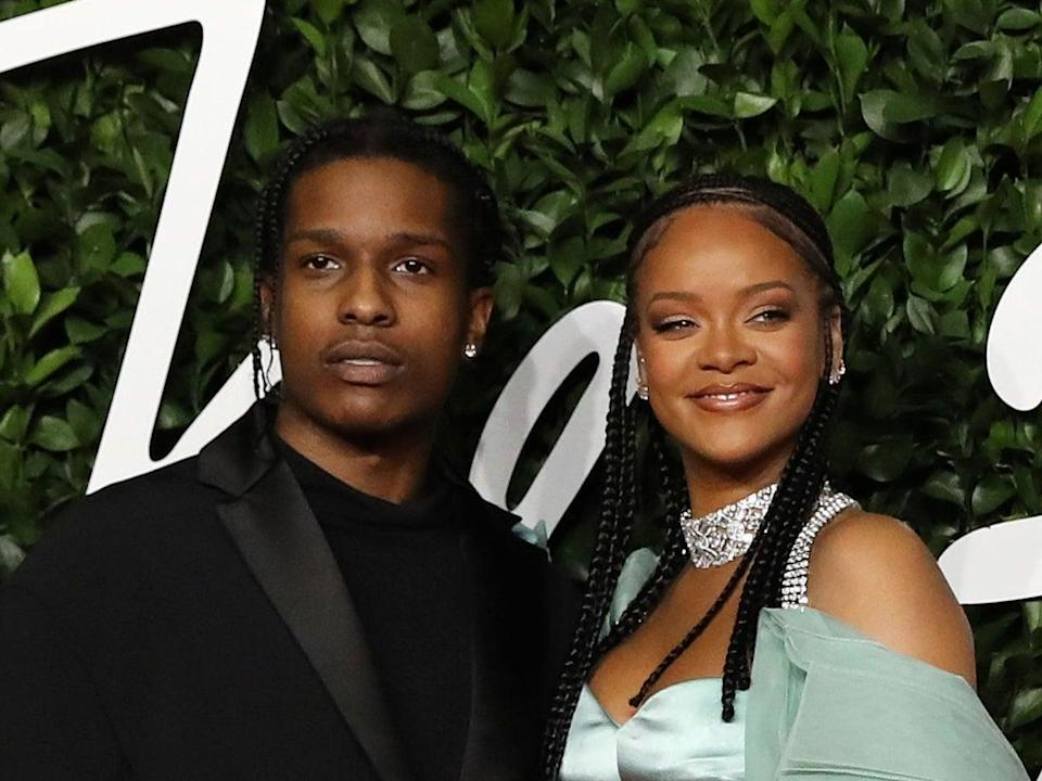 A$AP Rocky and Rihanna were rumoured to be dating since January 2020AFP via Getty Images