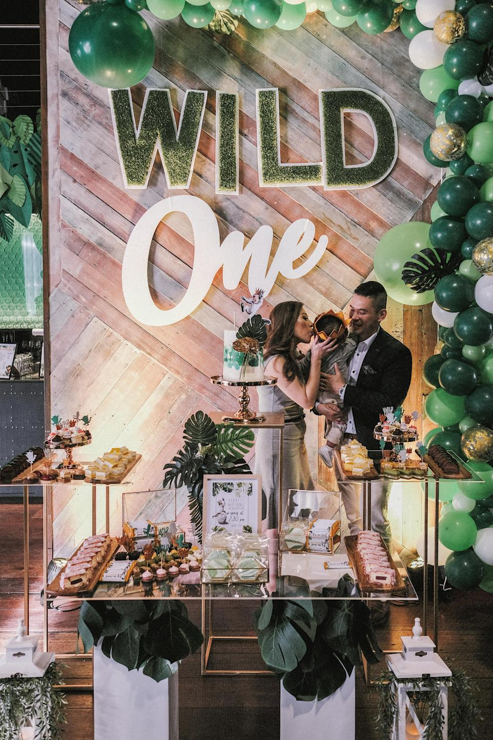 """Jackie Lam has admitted she went """"over the top"""" with her son's first birthday, spending $13 on a stunning party.Source: Supplied/JackieLam"""