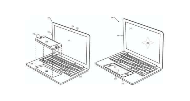 Patente de Apple muestra una MacBook cuyo procesador es un iPhone