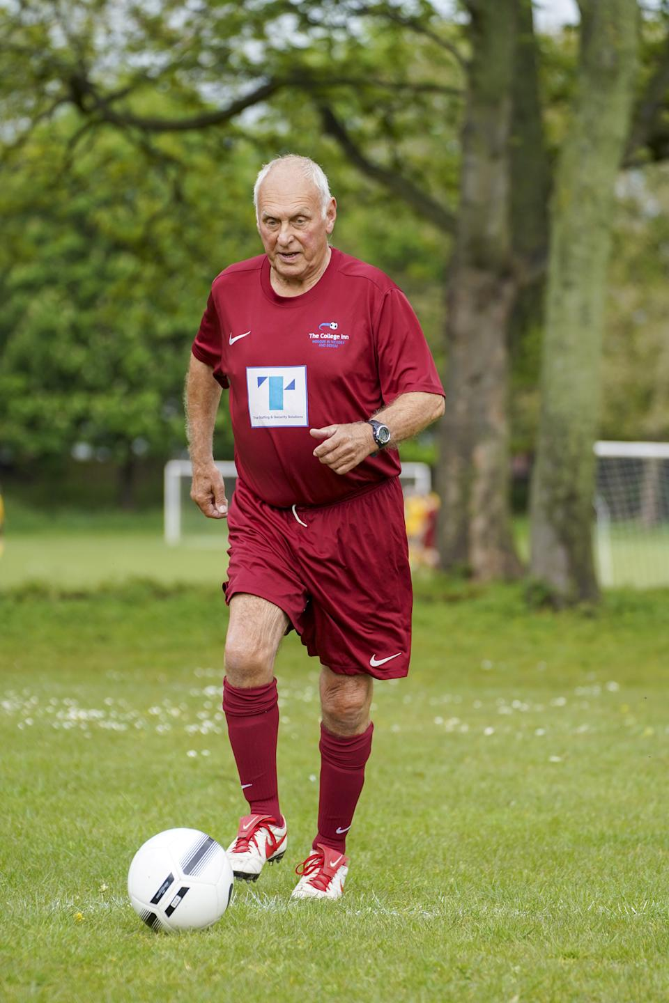 Wooton made his debut for College FC against Kirklands Reserves. (SWNS)