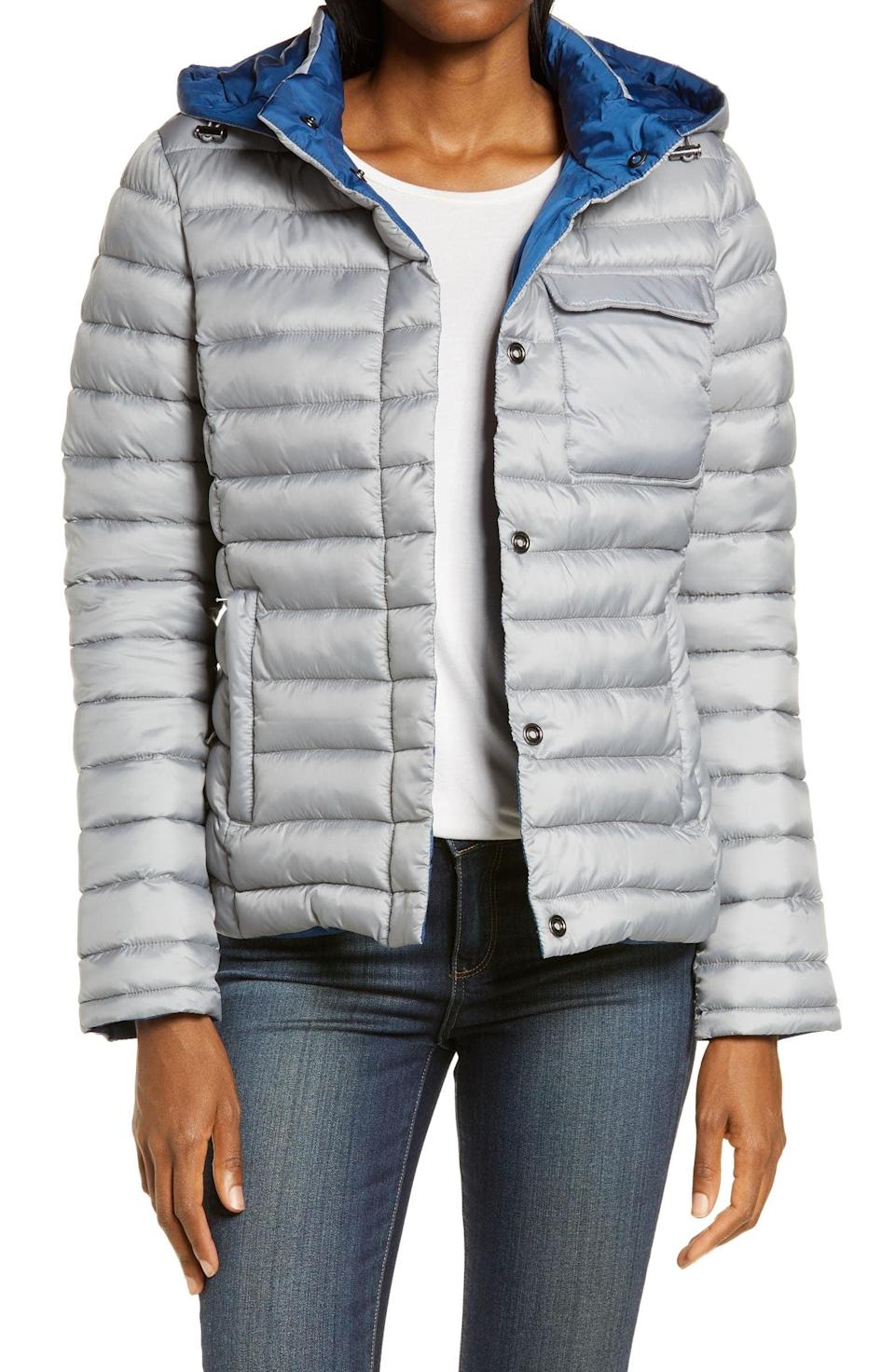 <p><span>Zella Ultralight Reversible Puffer Jacket With Removable Hood</span> ($59, originally $99)</p>