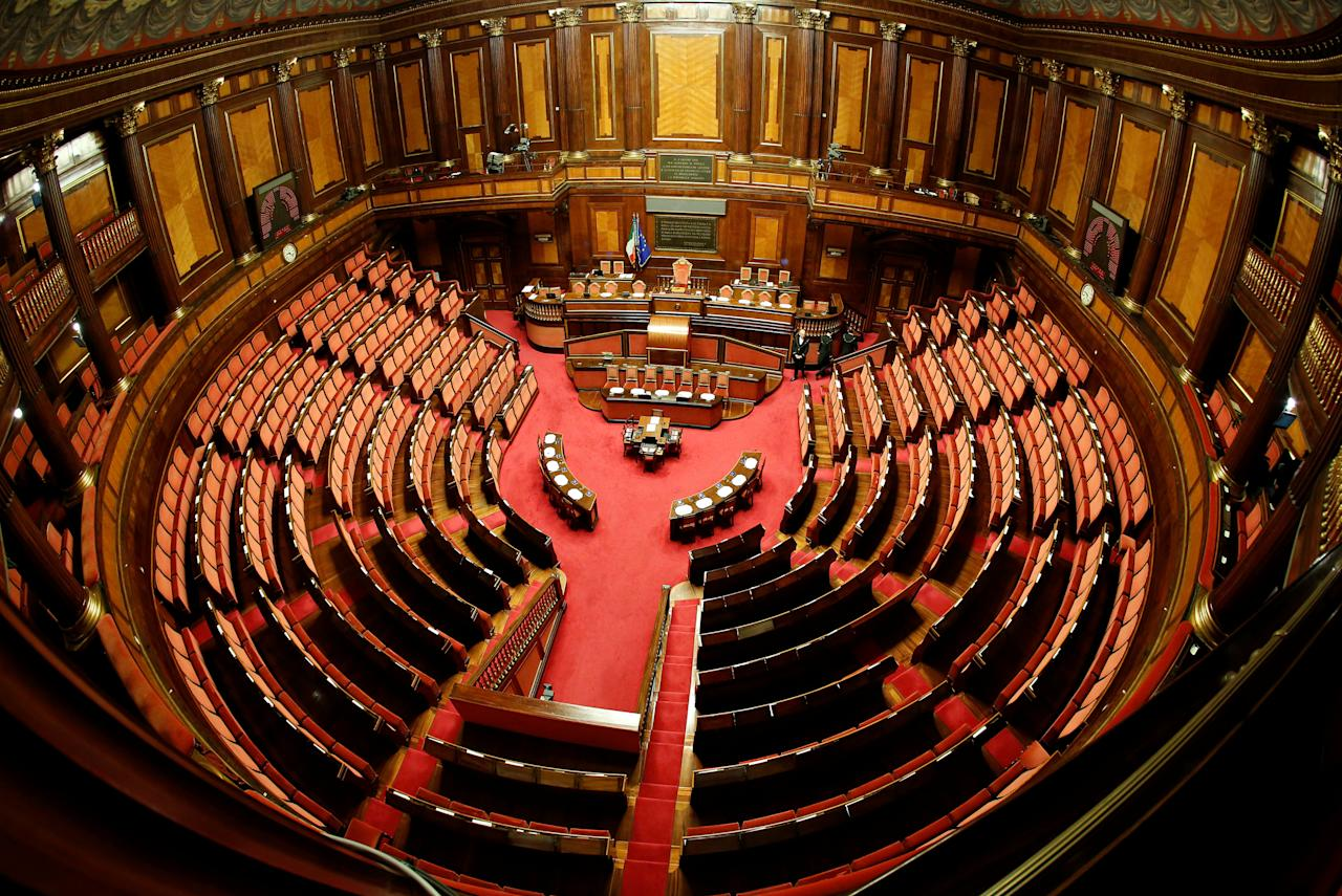 General view of the Senate during the second session day since the March 4 national election in Rome, Italy March 24, 2018. REUTERS/Remo Casilli