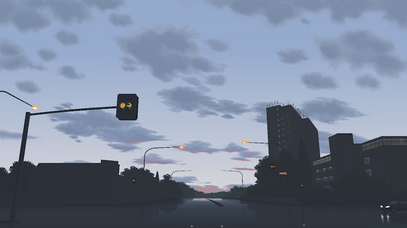 The Great Western Highway at Parramatta on MS Paint.