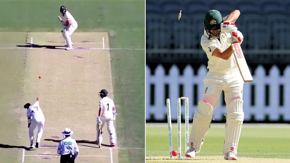 Joe Burns was removed for a golden duck in the tour match against Pakistan in Perth.
