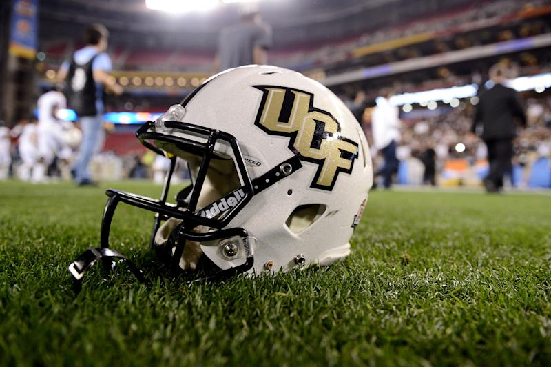 UCF DB Aaron Robinson stretchered off field vs. UConn