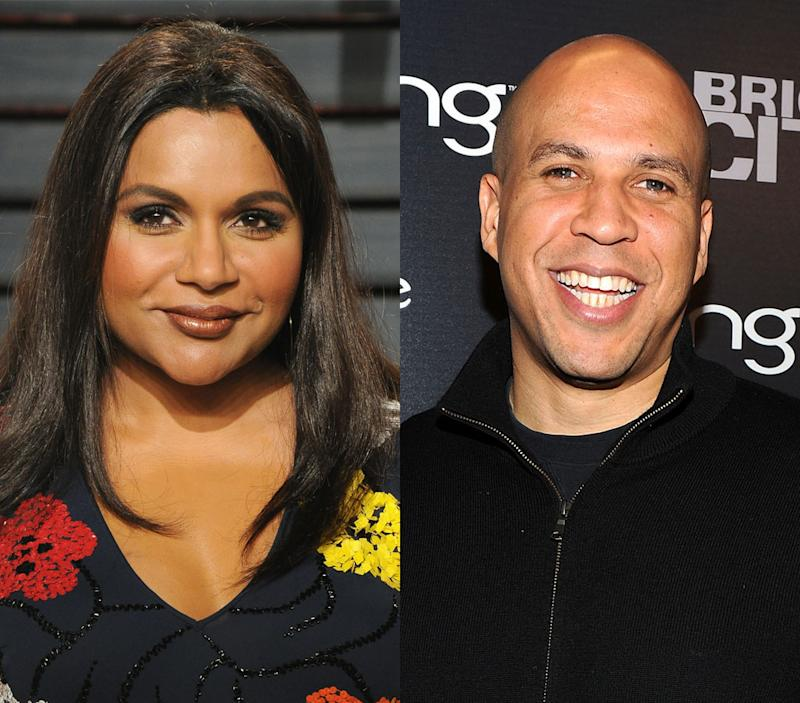 Could Mindy Kaling and Cory Booker have made a love connection on Twitter? (Photo: Getty Images)