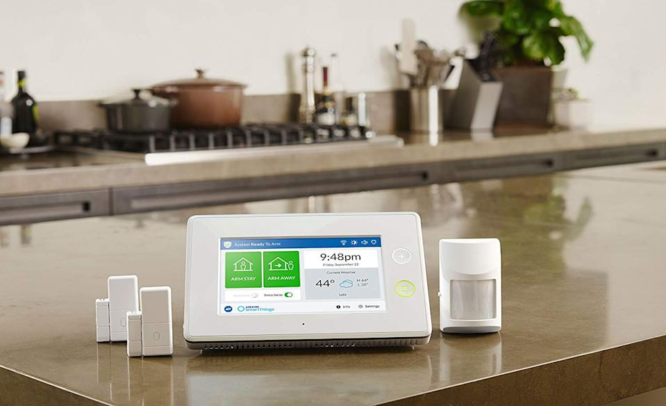 This affordable and unintimidating four-piece security system is a great place to start. (Photo: Amazon)