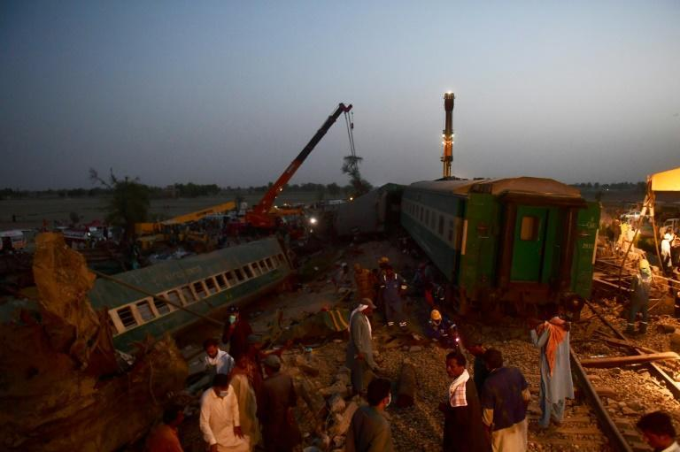 The collision of two passenger trains in Pakistan killed dozens