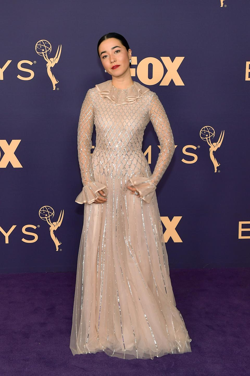 """<h1 class=""""title"""">Maya Erskine in Valentino</h1><cite class=""""credit"""">Photo: Getty Images</cite>"""