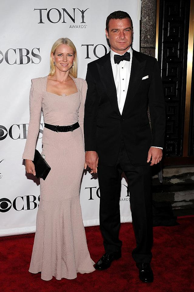 "One of our favorite famous couples -- Naomi Watts and Liev Schreiber -- added to the contingent of Hollywood heavyweights in attendance. Naomi looked chic in her shoulder pad-enhanced, floor-length gown, while Liev suited up splendidly in a bow tie and tux. Bryan Bedder/<a href=""http://www.gettyimages.com/"" target=""new"">GettyImages.com</a> - June 13, 2010"