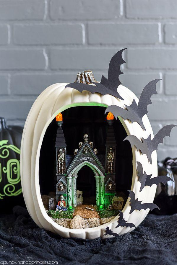 "<p>This spooky scene looks intricate, but it's actually pretty simple to pull off, thanks to spooky figurines.</p><p><strong>Get the tutorial at<a href=""https://apumpkinandaprincess.com/diy-pumpkin-diorama/"" rel=""nofollow noopener"" target=""_blank"" data-ylk=""slk:A Pumpkin and a Princess"" class=""link rapid-noclick-resp""> A Pumpkin and a Princess</a>.</strong></p>"