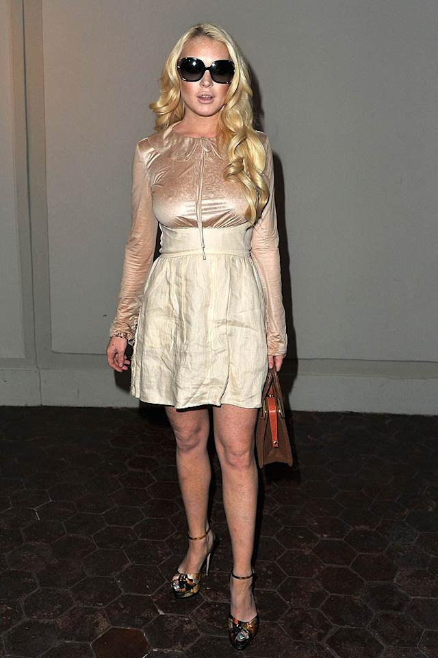 Speaking of crumpled catastrophes ... check out the wrinkled mess of a dress Lindsay Lohan unsuccessfully attempted to rock while attending Kanye West's presentation during Paris Fashion Week. Sidebar: Is it just me, or do you also think it looks like LiLo had her lips redone?  Pascal Le Segretain/GettyImages.com - October 1, 2011