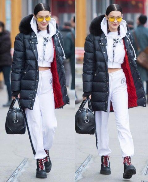 <p>In a chic white Chrome Hearts sweatsuit while out in Manhattan. </p>